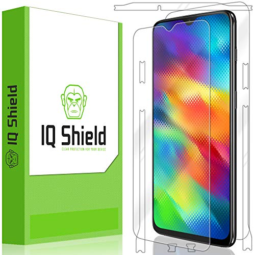 OnePlus 6T Screen Protector, IQ Shield LiQuidSkin Full Body Skin + Full Coverage Screen Protector for OnePlus 6T HD Clear Anti-Bubble Film