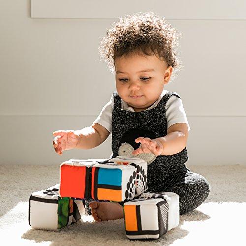 51YAUbQ7q4L - Baby Einstein Infinity Block High Contrast Soft Block Toy, Newborns and up