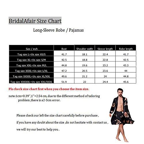 2b59cabda0 BridalAffair Mens Satin Robe Silk Long Sleeve House Kimono Bathrobe  Sleepwear Loungewear