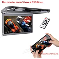 XTRONS 13.3 HD 1080P Video Car MPV Roof Flip Down Slim Monitor Overhead Player Wide Screen Ultra-thin with HDMI Input No DVD