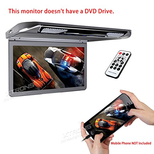 XTRONS 13.3″ HD 1080P Video Car MPV Roof Flip Down Slim Monitor Overhead Player Wide Screen Ultra-thin with HDMI Input No DVD