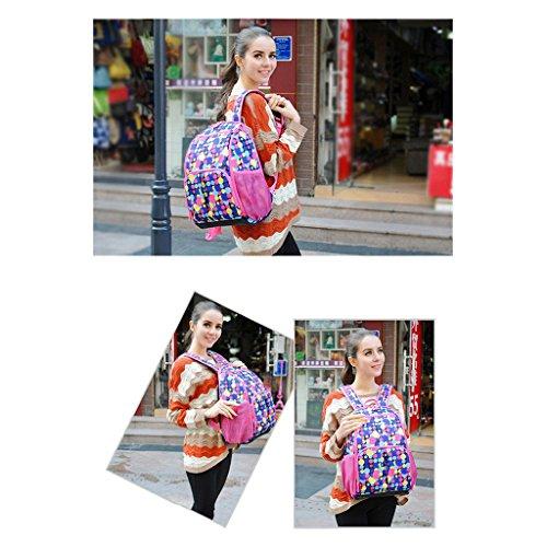 GudeHome Mochila Multifuncional Impermeable Bebé del Pañal Bolso de Momia mochila al aire libre Azul Vistoso Rosado
