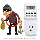 yodaliy 2Pcs Electronic Digital Mains Timer Socket Plug-in with LCD Display 3-Prong Outlet Anti-theft Electrical Socket for Flexible Scheduling, US Plug