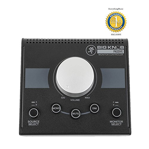 Mackie Big Knob Passive Studio Monitor Controller with 1 Year Free Extended Warranty (Monitor Controller)