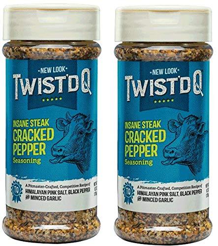 (Twist'd Q - Insane Steak Cracked Pepper Seasoning - 2 Pack)