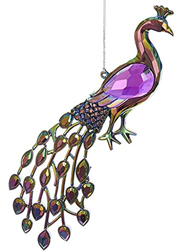 Acrylic Peacock Bird Ornament 5 inch (A)
