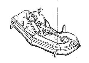 amazon com   john deere oem replacement mower deck shell