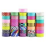 UOOOM 10pcs Decorative Washi Tape Masking Tape Adhesive Scrapbooking DIY Craft Gift (pattern-1)