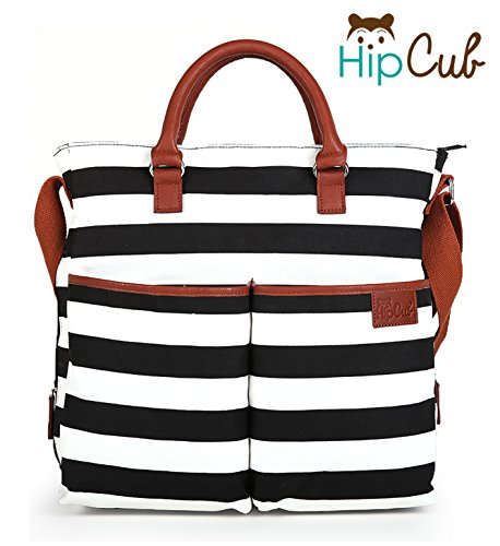 Amazon.com : Diaper Bag by Hip Cub - Baby Changing Pad - Black ...