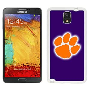Beautiful And Popular Designed With NCAA Atlantic Coast Conference ACC Footballl Clemson Tigers 4 Protective Cell Phone Hardshell Cover Case For Samsung Galaxy Note 3 N900A N900V N900P N900T White