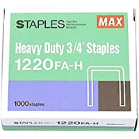 Max Heavy Duty Staples 3/4 Inch 1220FA-H - Box of 1000 Staples