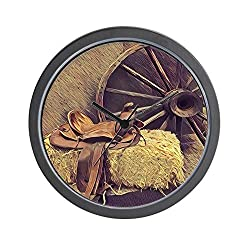 CafePress Horse Saddle Western Country Cowboy Unique Decorative 10 Wall Clock