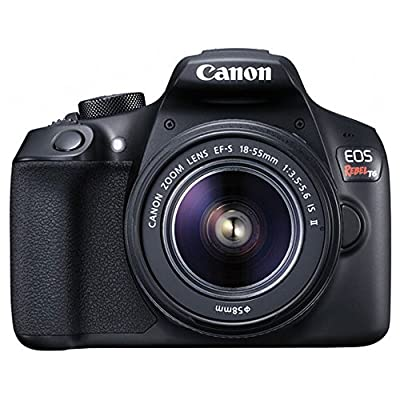 Canon EOS Rebel T6 Digital SLR Camera + Canon 18-55mm EF-S f/3.5-5.6 IS II Lens & EF 75-300mm f/4-5.6 III Lens + Wide Angle Lens + 58mm 2x Lens + Slave Flash + 64GB Memory Card + Wired Remote + Bundle from Canon