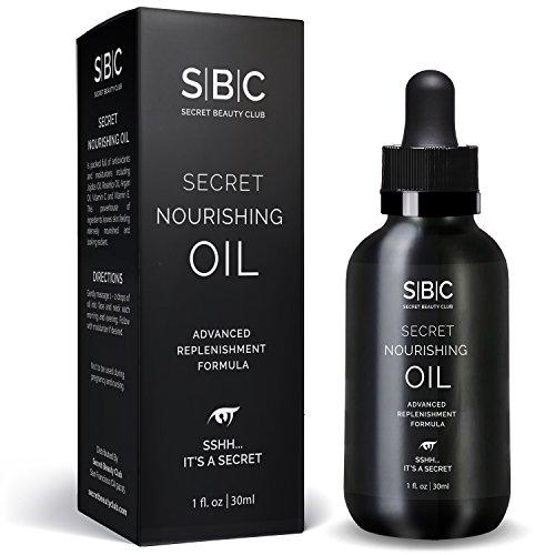 Nourishing Face Oil by Secret Beauty Club with Jojoba, Rosehip & Argan Oils, Vitamin C & Vitamin E Jojoba Oil Vitamin E