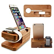 Bambou Stand Support Station pour Apple Watch iWatch / iWatch 2 / iPhone 5 / 5S / 5C / SE / 6 / 6 Plus / 6S / 6S Plus / 7 / 7 Plus (AW0001)