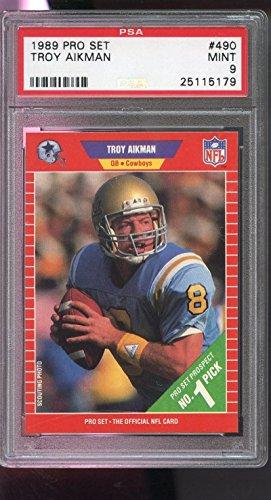 troy-aikman-psa-graded-9-football-card-1989-pro-set-490