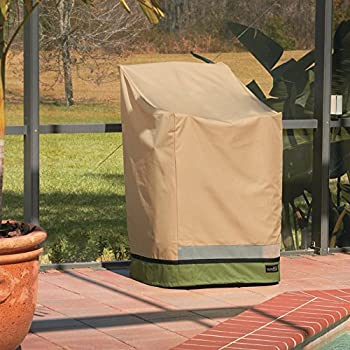 Amazoncom Sure Fit Stack of Chairs Cover Taupe Patio Chair