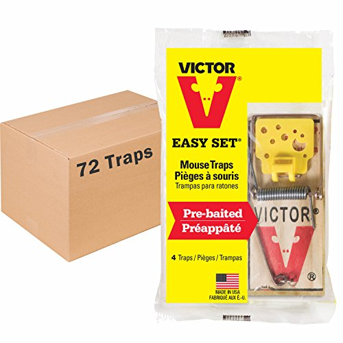 Victor Easy Set Mouse Trap - 18 Pack (72 Total Traps) ()