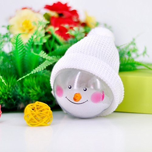 Bernie Gresham Supply Christmas Decoration Snowman Ball Christmas Tree Pendant Cute Doll Gift Support Customization White cap