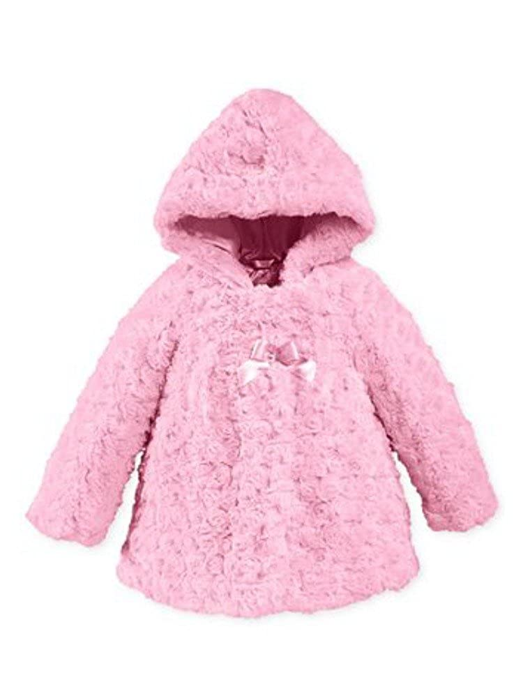 Amazon.com: London Fog Infant Girls Pink Rosette pelo ...