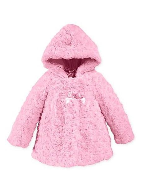 Amazon.com: London Fog Infant Girls Pink Rosette pelo ...