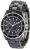 Akribos XXIV Women's AKR484BK Allura Black Ceramic Watch
