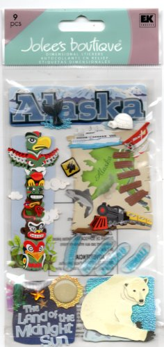 Jolee'S Boutique Dimensional Stickers-Alaska