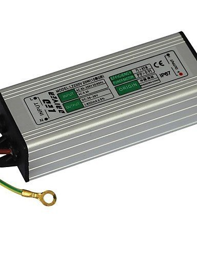 JIN@ JIAWEN? 20W 600mA Led Power Supply Led Constant Current Driver Power Source (AC 85-265V Input / DC 28-36V Output)