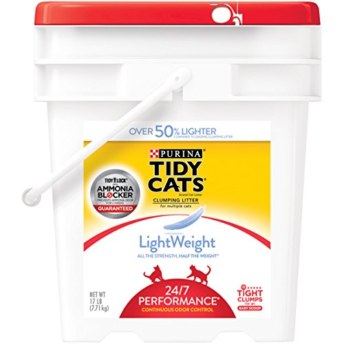 Purina Tidy Cats LightWeight 24/7 Performance Clumping Litter for Multiple Cats - (1) 17 lb. Pail