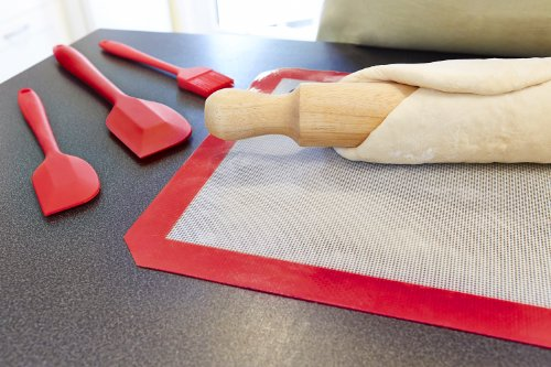 StarPack Silicone Baking Mat Set (3 Piece) - 2 x Half Sheet, 1 x Qtr Sheet - Bonus 101 Cooking Tips