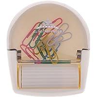 IPOTCH Dispensador De Clips De Papel Magnético Porta Clips De Plástico 70 - Capacidad De 80 Clips, 12 Piezas De Metal De Color Clips De Papel Marcadores