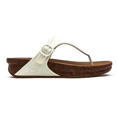 02632c755f37 Fitflop Women s Superjelly Tm Cork Fashion Sandals Bianco 5.5-6