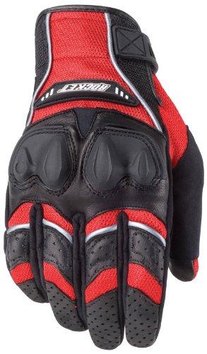 Glove Rocket Black Joe Mesh (Joe Rocket Men's Phoenix 4.0 Motorcycle Riding Gloves (Red/Black/Silver, Large))