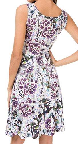 Manches Mode Féminine Cromoncent Cou Carré Fleur De Sundresses Été Grande Robe Pendule 7