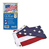 Annin Flagmakers Model 2710 American Flag 3x5 ft. Tough-Tex the Strongest, Longest Lasting Flag , 100% Made in USA with Sewn Stripes, Embroidered Stars and Brass Grommets,Red/White/Blue