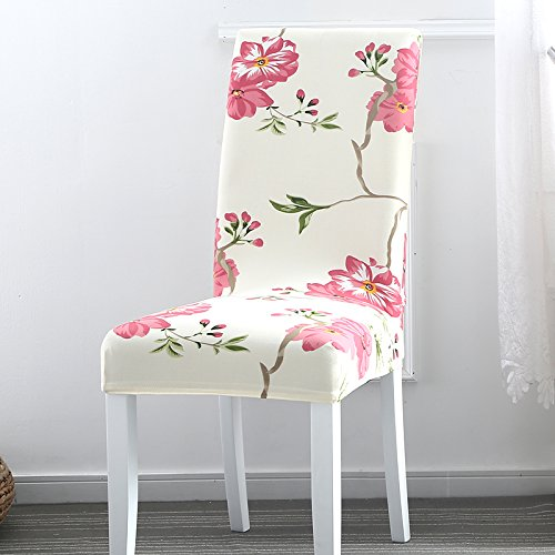 TDLC Home chairs hood elastic Siamese chair package hotel restaurant upholstery fabrics, minimalist modern general purpose bench set, the Birds and Fragrant Flowers
