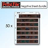 Printfile 357B25 35mm Film Negative Storage Sheets 7 Strip - 2 Packs of 25