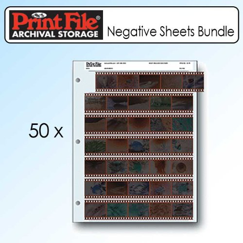 (Printfile 357B25 35mm Film Negative Storage Sheets 7 Strip - 2 Packs of 25)
