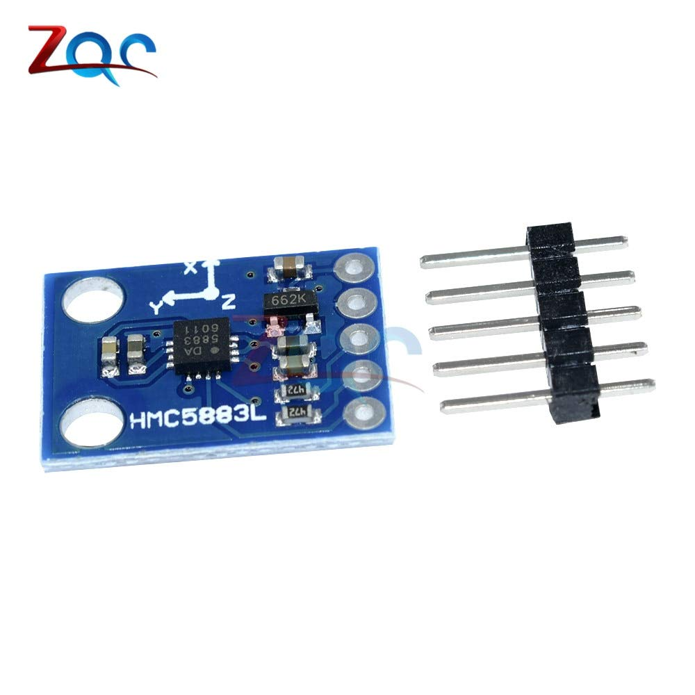 GY-273 DC 3V-5V HMC5883L Triple Axis Compass Magnetometer Sensor Module Three Axis Magnetic Field Module for Arduino