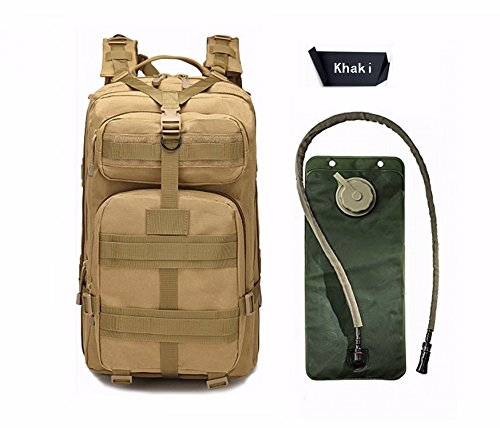 Niree Motorbike Backpack Motorcycle Bag Outdoor Sports Riding Package 25L Khaki With 3 Liter Hydration Water Bladder System For Suzuki Burgman Moped Shuttle FA50 FZ50 ()