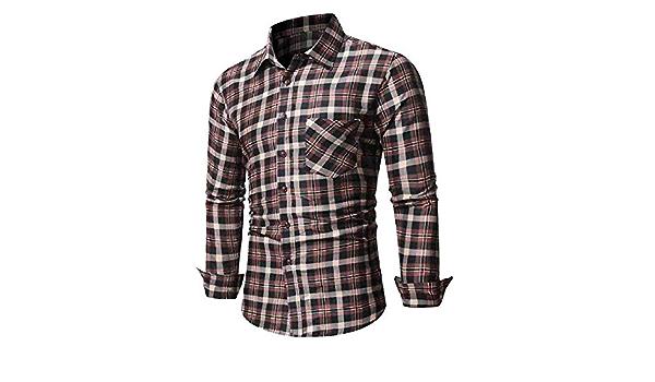 Camisa a Cuadros Casual Camisa para Hombre Camisa de Manga ...