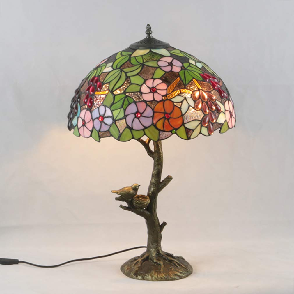 Tiffany stil tischlampe 16 zoll retro kunst glas schreibtisch lampen dekoration lampe für schlafzimmer wohnzimmer nachttisch studie