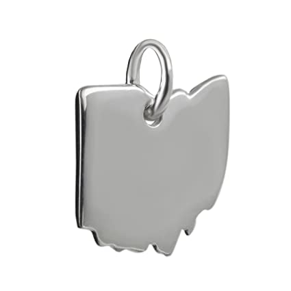 Amazon com: Ohio State Charm - 925 Sterling Silver Columbus Lake