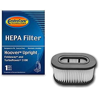 EnviroCare Replacement HEPA Vacuum Filters for Hoover Fold Away Turbo Power 3100 HEPA Pleated Filter, Upright, Bageless, Widepath Vacuum Cleaners 1 Filter