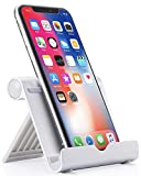 Anker Portable Multi-Angle Stand for Tablets, e-readers and Smartphones, Compatible with iPhone, iPad, Samsung Galaxy/Tab, Google Nexus, HTC, LG, Nokia Lumia, OnePlus and More (Silver)