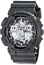 G-Shock GA100CF-8A Special Color Models Luxury Watch - Grey/Camouflage / One Size