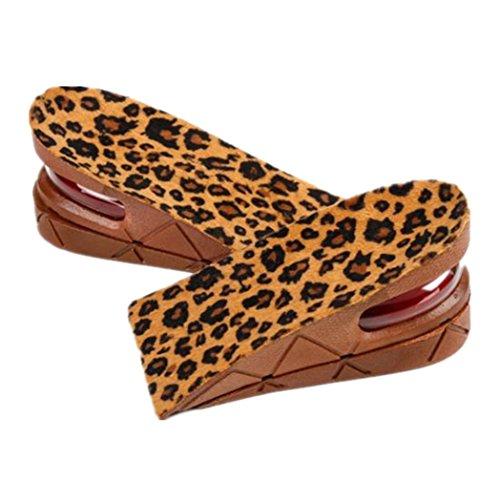Euone Men Women Shoe Insole Air Cushion Heel Insert Increase Taller Height Lift 5cm/2inch (Brown)