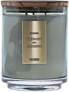 DW Home Wood-Accent 29 oz. 3-Wick Jar Candle (Bamboo & Jasmine)