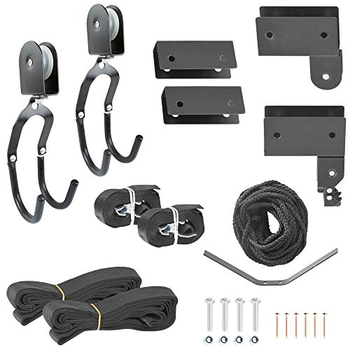 Apex BLC-1-1 Black Kayak Canoe and Bike Overhead Storage Hoist- 1 Pack