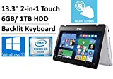 2017 New Asus 2-in-1 13.3''Full HD Convertible Touch Laptop, Intel Dual-Core i5-7200U up to 3.1GHz, 6GB DDR4, 1TB HDD, Intel HD Graphics, 360°flip-and-fold, Backlit keyboard, HDMI, Fingerprint, Win10